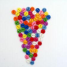 Lot de 50 mini boutons 6mm - Couleurs Mélangé - Scrapbooking Couture