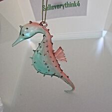 Seahorse nubs hand mouth blown Glass Christmas Ornament