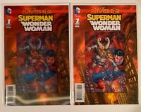 Dc Comics Superman/ Wonder Woman: Futures End #1 Both Cover Set 3D Cover