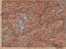 ST GOTTHARD area. Andermatt Engelberg Silenen Gadmen Ulrichen Disentis 1899 map