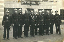 FIREFIGHTERS & PARNU, ESTONIA & ORIGINAL ca 1922  REAL PHOTO POSTCARD