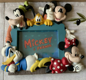 Walt Disney Mickey Mouse And Friends Photo Frame With Stand. Free Postage