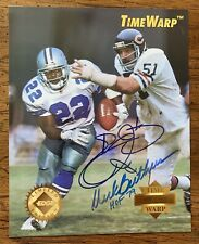 1995 Collector's Edge EMMITT SMITH DICK BUTKUS Signed 8x10 TimeWarp Jumbo Cert