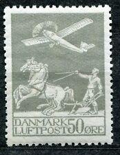 DENMARK 1929 SCOTT C4 FACIT 216 50 ore AIR MAIL PERFECT MH