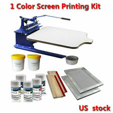 1 Color Screen Printing Start Hobby Materials Kit Ink Squeegee Stratched Frame