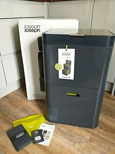 Joseph Joseph Totem 48l Graphite & Green Intelligent Waste Bin New with Defects