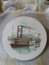Collectors Plate. Old Time 1880,S Photo Of A River Boat Ferry.Buyer Pays Postage