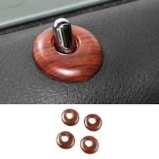 For Cadillac XTS 2013-2019 Wood Grain Inner Door Bolt Lock Down Ring Trim 4PCS