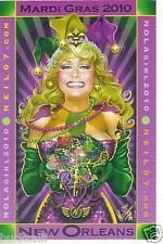 MARDI GRAS 2010 NEW ORLEANS POSTCARD NOLA GIRL by NEIL07.com