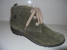 589719 Waldläufer Damenstiefelette Boots Leder für Einlagen oliv  UK 7½ Gr.41