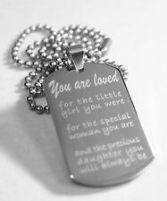 DAUGHTER/SON, DADDYS GIRL MOMMYS GIRL SPECIAL NECKLACE DOG TAG STAINLESS STEEL
