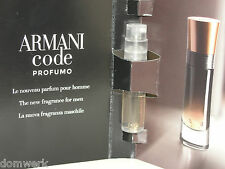 GIORGIO ARMANI Code Profumo Parfum pour homme Vial Sample 1.5ml New in Box