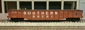 HO ATHEARN SOUTHERN RAILWAY BLUE BOX 50 FT GONDOLA UPGRADED METAL WHEELS KADEES