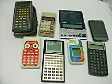 Lot of Vintage Calculator NATIONAL SEMICONDUCTOR Casio HP Franklin HP iPAQ hx279