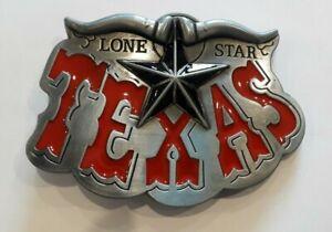 Texas Lone Star Longhorn  Western Line Dancing Gear Gunmetal Belt Buckle NEW