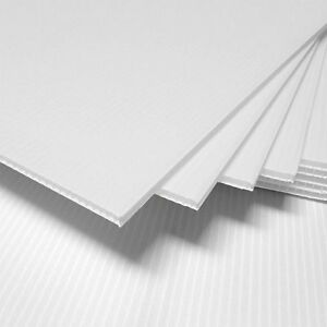 """(3 Pack) 4mm White 24"""" x 48"""" Corrugated Plastic Coroplast Sheets Sign Vertical^"""