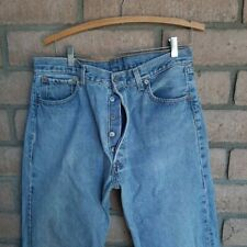 Levi's 501 Mens Blue Jeans Size 36 x 34 Made in USA WPL 423 100% Cotton Faded