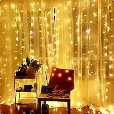300LED / 10ft Curtain Fairy Hanging String Lights LED Home Wedding Party 8 Modes