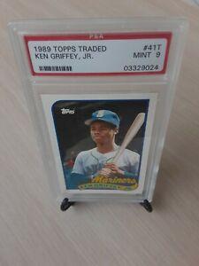 1989 Topps Traded #41T Ken Griffey jr. ROOKIE Mariners HOFer PSA Graded MINT *9*