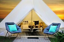 Bell Tent 5M Canvas Waterproof Glamping Luxury Yurt Tent Stove Jack Camping Tent