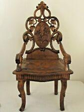 Antique Black Forest Child's Arm Chair
