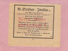 ZWICKAU, Werbung 1920, W. Stephan Wagenfette Leder-Huf-Drahtseil-Fett Vaseline