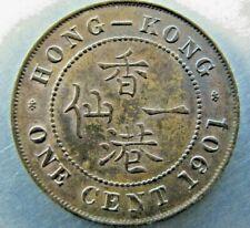 Hong Kong 1 Cent 1901 sharp toned UNC.