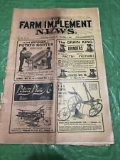 THE FARM IMPLEMENT NEWS DEC 6 1900 MAGAZINE DEERE & COMPANY MOLINE WAGON