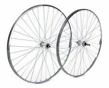 Tru-build Wheels 27 inch Rear wheel Alloy rim screw-on alloy nutted hub Silver.