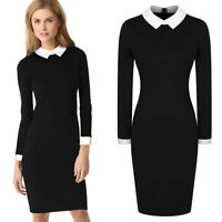 Women's Vintage Stretch Bodycon OL Career Cocktail Party Tunic Pencil Dresses