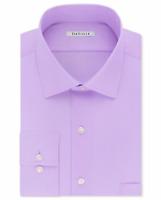 Van Heusen Men's Classic-Fit Wrinkle Solid Soft Lilac Dress Shirt,16.5 34-35 $55