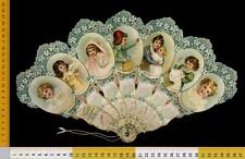 166] CALENDARIO A VENTAGLIO FAN CUT ANNO  1899 _ THE SEVEN DAYS CALENDAR
