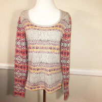 NWT ODD MOLLY Butterfly Leaves Cotton Sweater Size M Multicolor