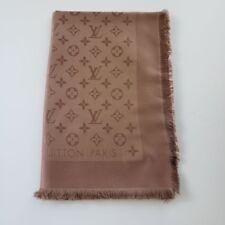 Louis Vuitton LV Logo Monogram Oversized Silk Scarf Shawl M75872 | Cappuccino