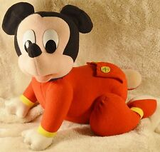 Vintage Mattel Touch n Crawl Baby Mickey Mouse 1995 crawling plush battery op