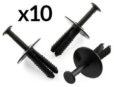 10x BUMPER RIVET TRIM CLIPS FOR VAUXHALL CORSA ASTRA VECTRA ZAFIRA BLACK PLASTIC