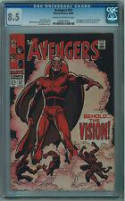 AVENGERS #57 CGC 8.5 1ST VISION CR/OW PAGES SILVER AGE KEY BOOK 🔑