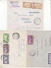 * 1953/7 3 x ADDIS ABABA ETHIOPIA COVERS TO USA SWEDEN & GERMANY