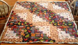 """38"""" x 38"""" Small Baby - Multi-color - Quilt/Throw (Cotton/Flannel) - New"""