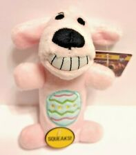 """Multipet Loofa Dog Toy  DOG WITH SQUEAKER 6"""" Pink - New With Tags"""