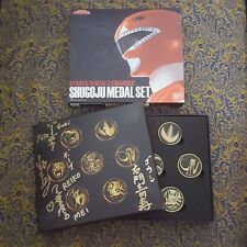Bandai Japan Kyoryu Sentai Zyuranger Shugoju Medal Set - Signed by Original Cast