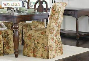SureFit Bridgewater Floral  - Dining Room Chair Slipcover  - Antique NEW