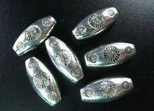 10pcs Tibetan Silver Metal Floral Oval Spacer Beads R634