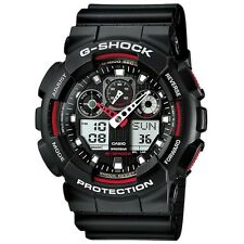 Casio GA-100-1A4ER Mens G-Shock Auto LED Light Black Watch RRP £110