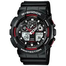 Casio GA-100-1A4ER Mens G-Shock Auto LED Light Black Watch RRP £110