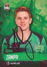 ✺Signed✺ 2015 2016 MELBOURNE STARS Cricket Card ADAM ZAMPA Big Bash League