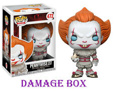 """DAMAGE BOX Funko Pop Pennywise With Boat IT Movie 3.75"""" Vinyl Figure"""