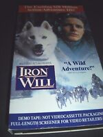Iron Will VHS Walt Disney Home Video DEMO TAPE