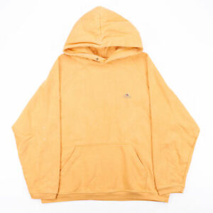 Vintage FRUIT OF THE LOOM  Yellow Classic Pullover Hoodie Mens M