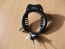 Bike Cycle Frame Dutch Lock XL Ring For Wide Tyres With 2 Keys With Lights